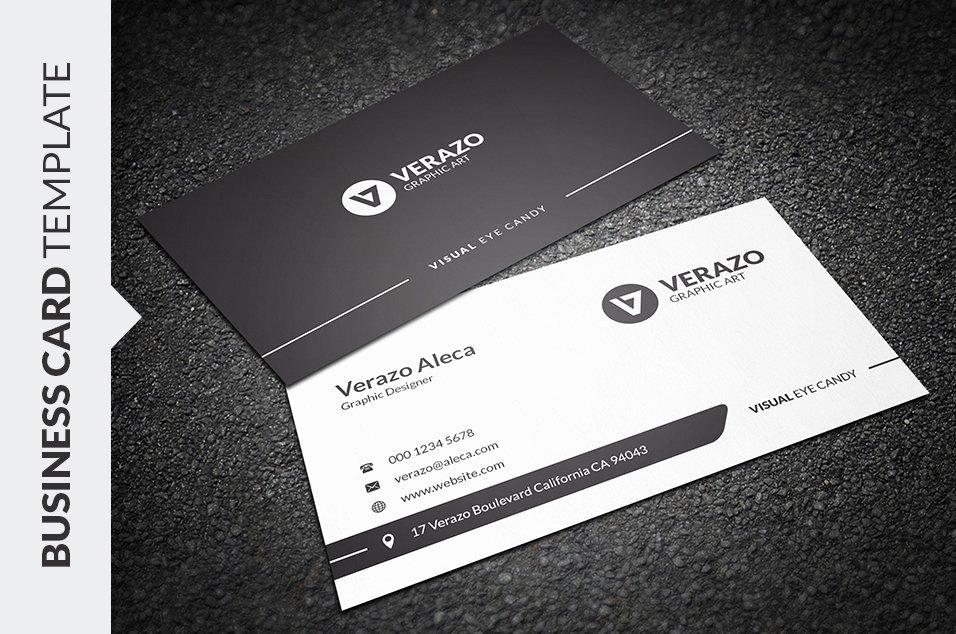 Black Business Card Template Beautiful Clean Black & White Business Card Business Card
