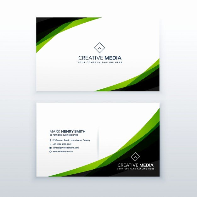 Black Business Card Template Beautiful Green and Black Business Card Template Vector