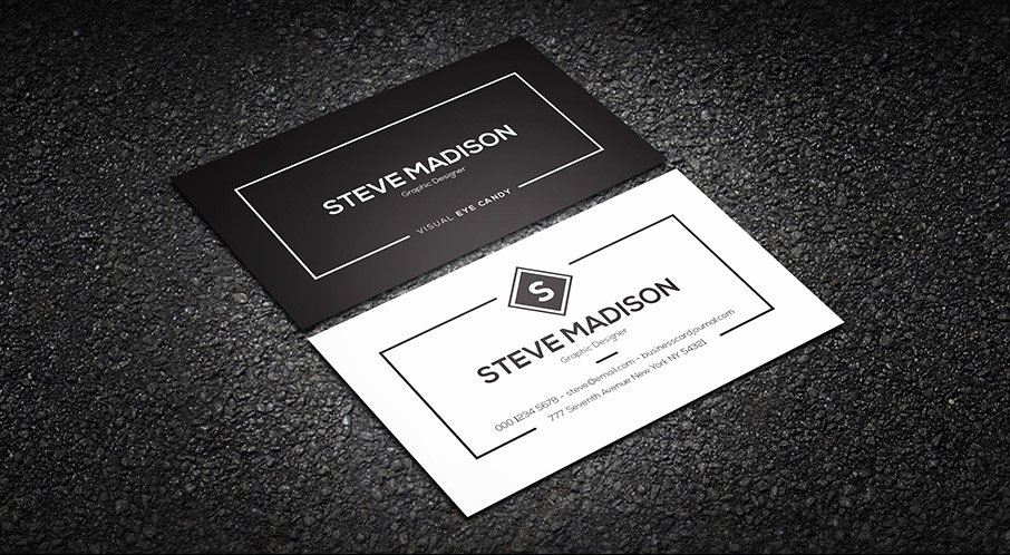 Black Business Card Template Best Of Free Minimal Black & White Individual Business Card Template