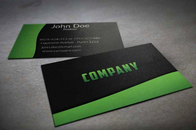 Black Business Card Template Elegant 130 Best Free Psd Business Card Templates Techclient