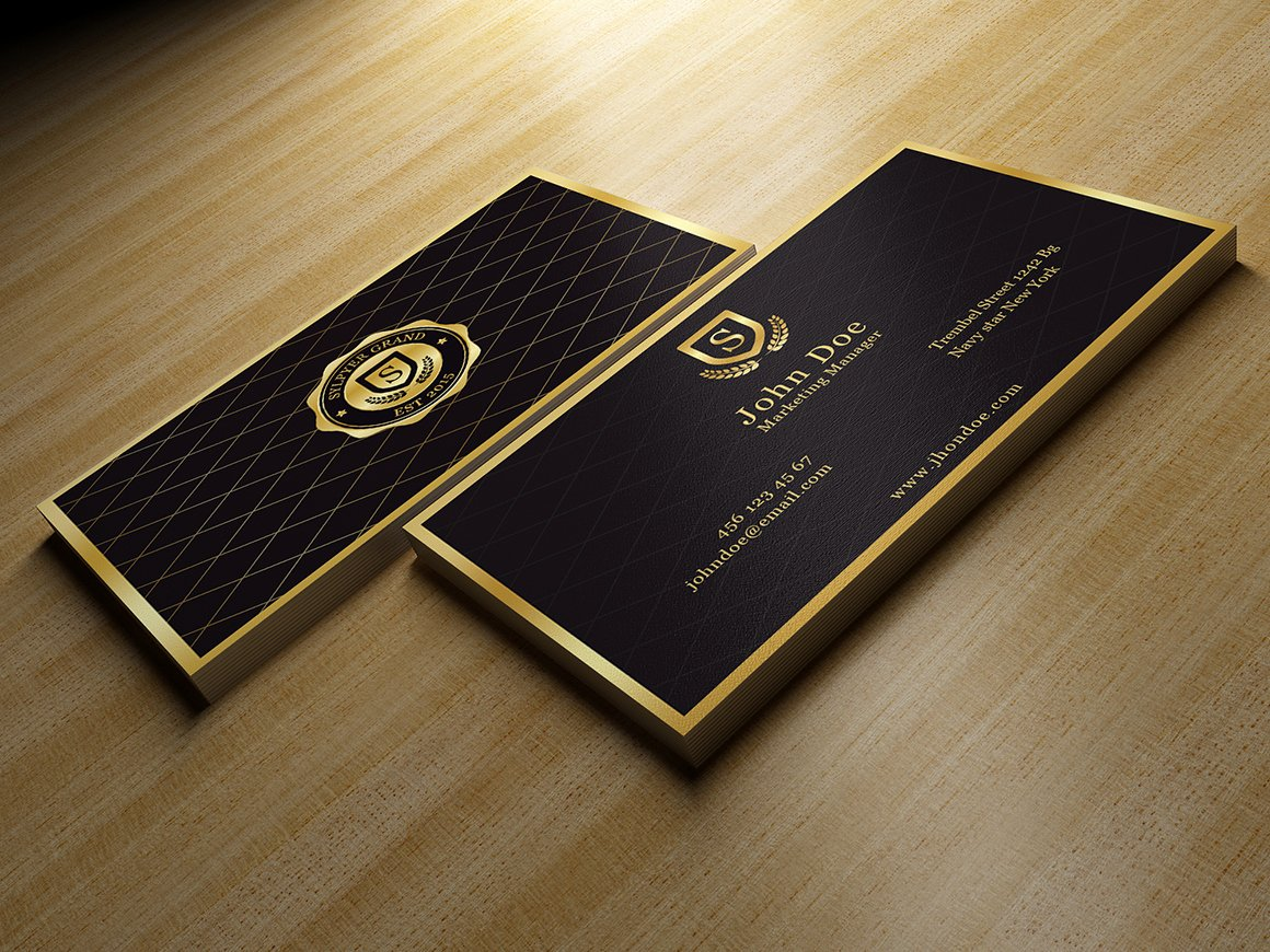 Black Business Card Template Elegant Gold and Black Business Card Business Card Templates On