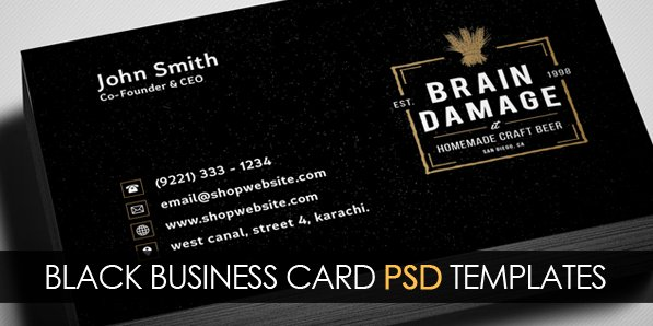 Black Business Card Template Fresh Free Vintage Black Business Card Psd Template