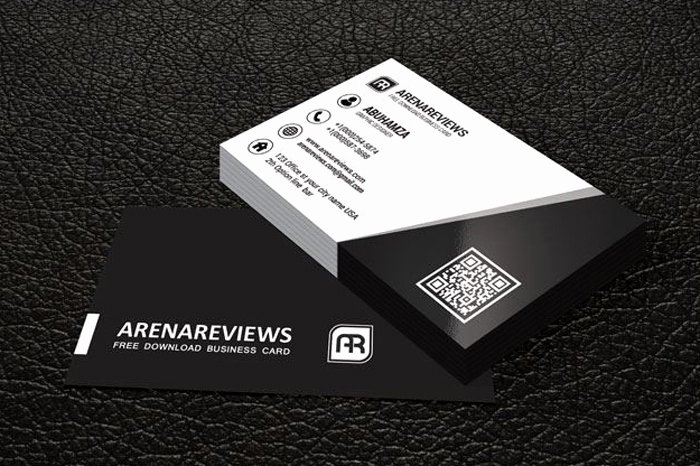 Black Business Card Template Lovely 20 Free Black and White Business Card Templates Designyep