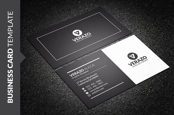 Black Business Card Template Lovely Clean Black & White Business Card Business Card