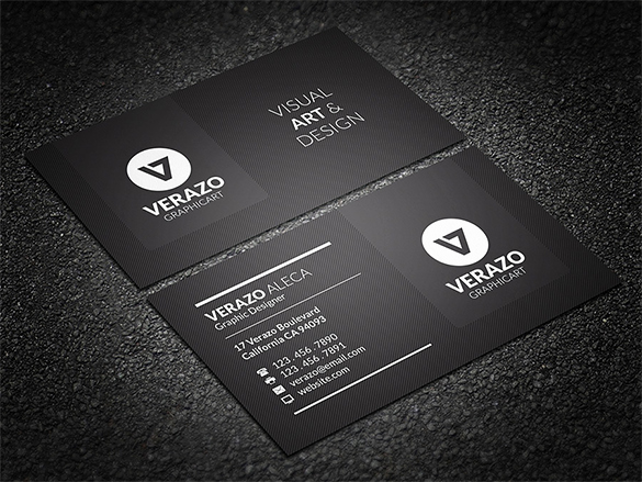Black Business Card Template Luxury 39 Black Business Card Templates Word Ai Psd
