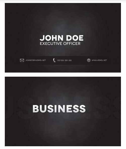 Black Business Card Template Luxury 60 Absolutely Free Dark and Black Business Card Templates