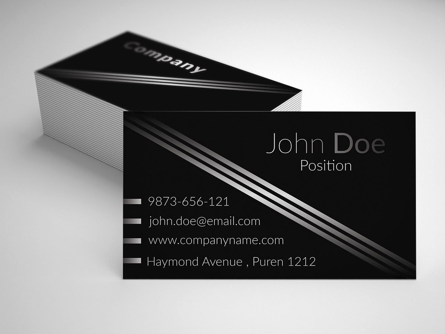 Black Business Card Template New Elegant Black Business Card Template Business Cards Lab