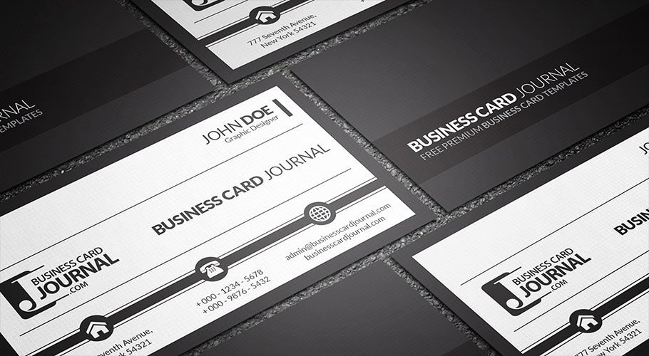 Black Business Card Template New Free Black and White Corporate Business Card Template