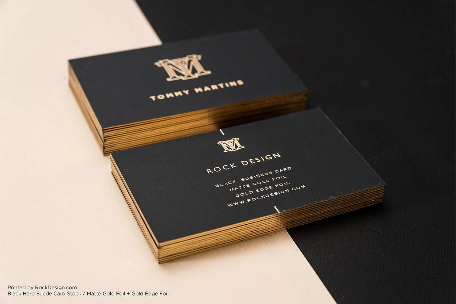 Black Business Card Template New Free Gold Foil Monogram Elegant Black Business Template
