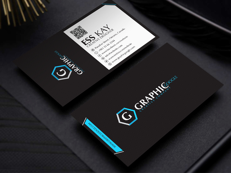Black Business Card Template New Free Modern Black Business Card Template Design by Ess Kay