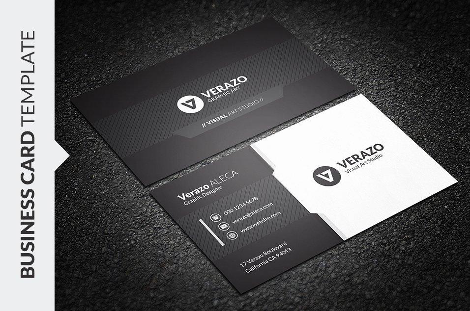 Black Business Card Template Unique Black & White Business Card Business Card Templates