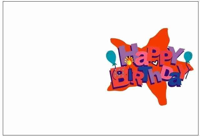 Blank Birthday Card Template Awesome 8 Free Birthday Card Templates Excel Pdf formats
