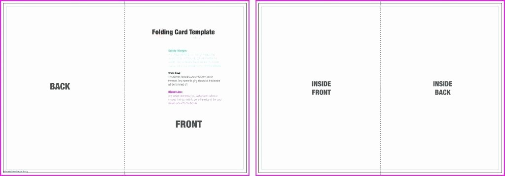 Blank Birthday Card Template Inspirational Blank Half Fold Card Template – Stingerworld