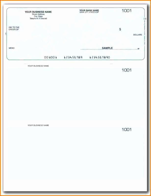 Blank Business Check Template Luxury 11 Payroll Checks Templates