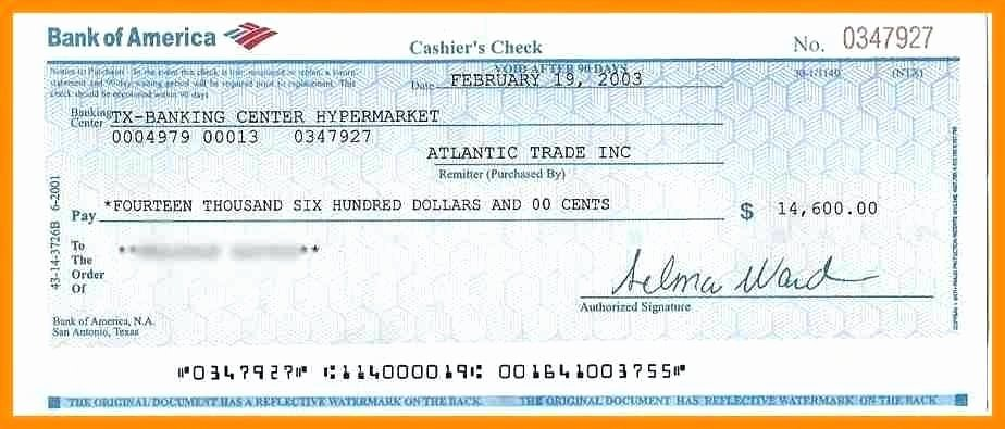 Blank Cashiers Check Template Inspirational Bank Concurrent Audit A Checks Money Documents Fake