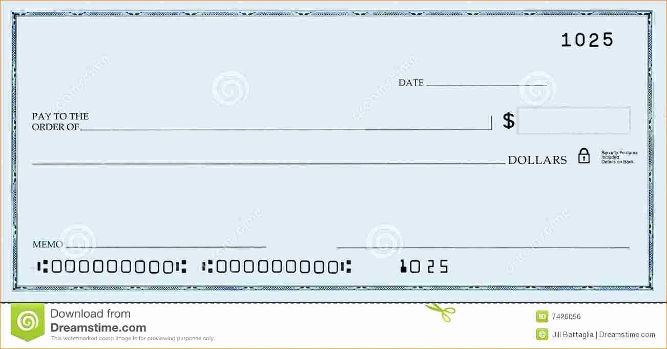 Blank Cashiers Check Template New Fake Check Template