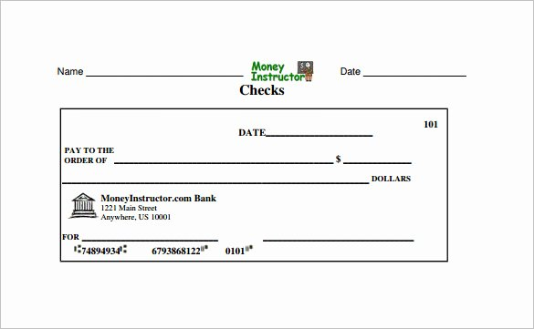 Blank Check Template Word Awesome Blank Check Template – 30 Free Word Psd Pdf & Vector