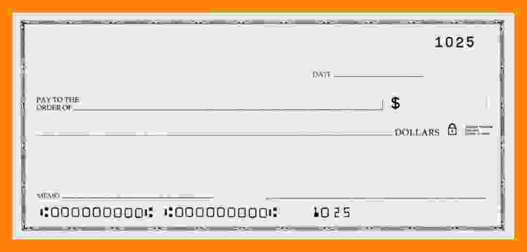 Blank Check Template Word Best Of 6 Blank Payroll Check Template