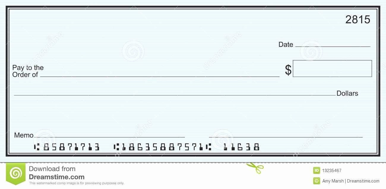 Blank Check Template Word Fresh Inspirational Editable Blank Check Template Pdf