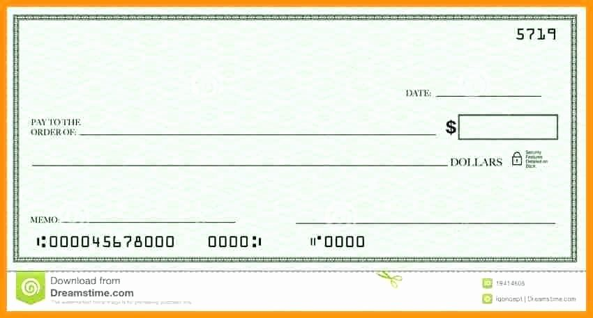 Blank Check Template Word Lovely Blank Cheque Template Presentation Free Download