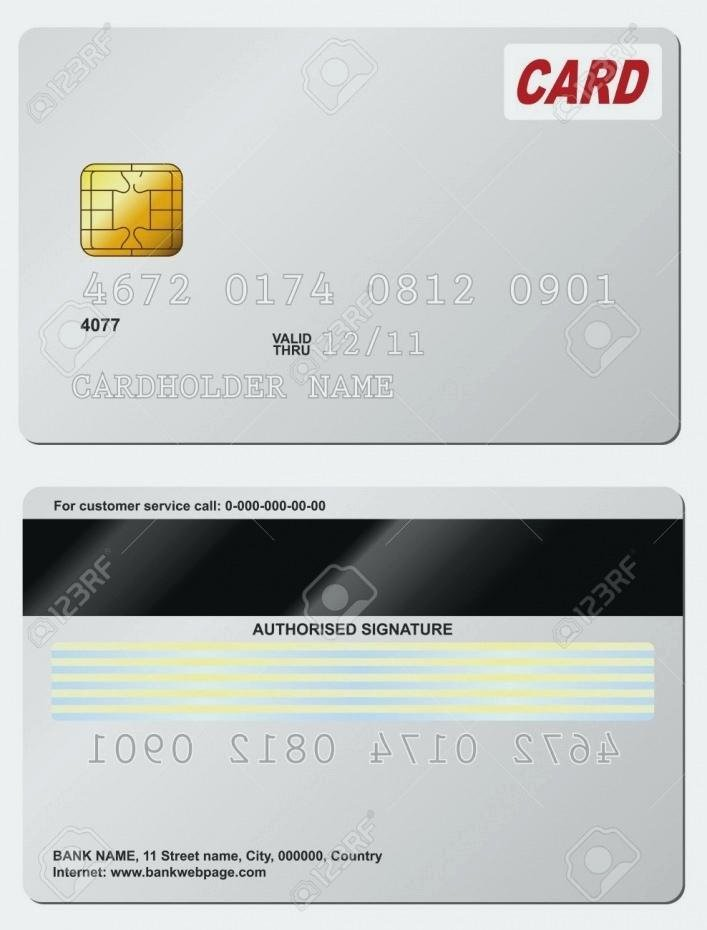 Blank Credit Card Template Beautiful Full Size Fake Credit Card Template Bill Awesome