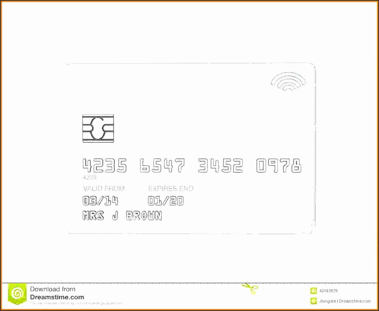 Blank Credit Card Template Elegant 10 Blank Credit Card Template Sampletemplatess