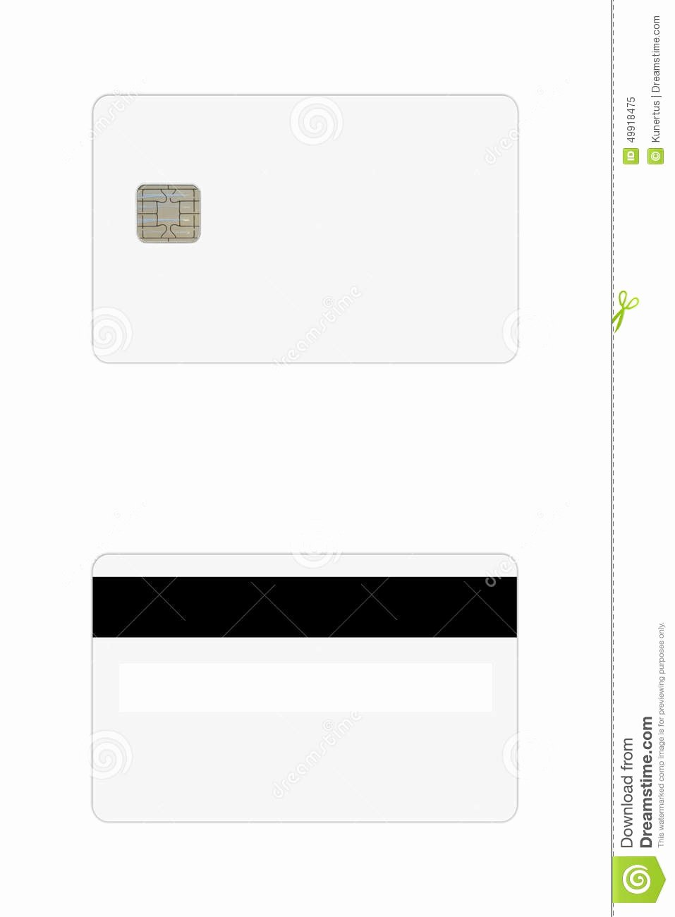 Blank Credit Card Template Inspirational Credit Debit Card Template Stock Image