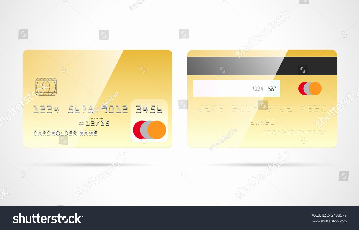 Blank Credit Card Template Luxury Blank Golden Debit Credit Card Template with Chip and