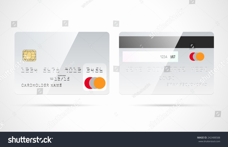 Blank Credit Card Template Luxury Blank Silver Debit Credit Card Template Stock Vector