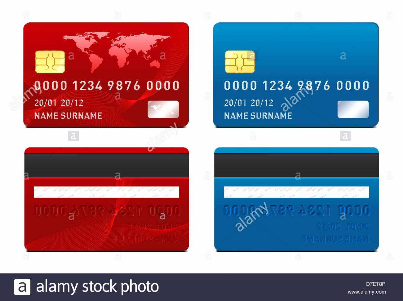 Blank Credit Card Template Luxury Credit Card Template Front and Back Side Stock