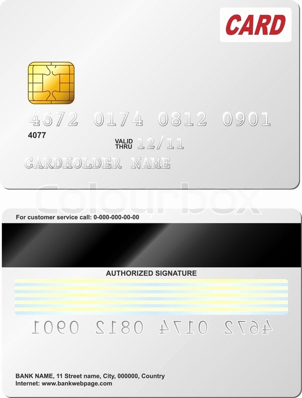 Blank Credit Card Template New Blank Credit Card Vector Template Front and Back View