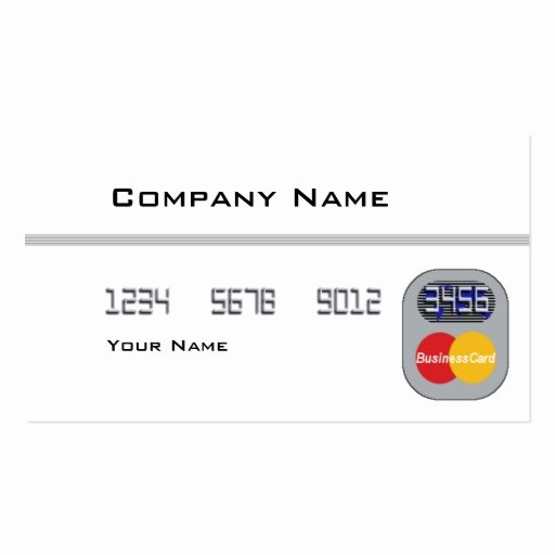 credit card blank business card template