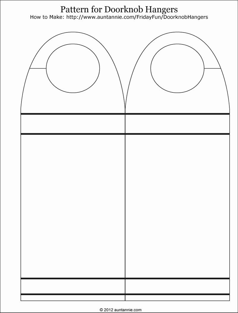 Blank Door Hanger Template Beautiful Blank Printable Doorknob Hanger Template