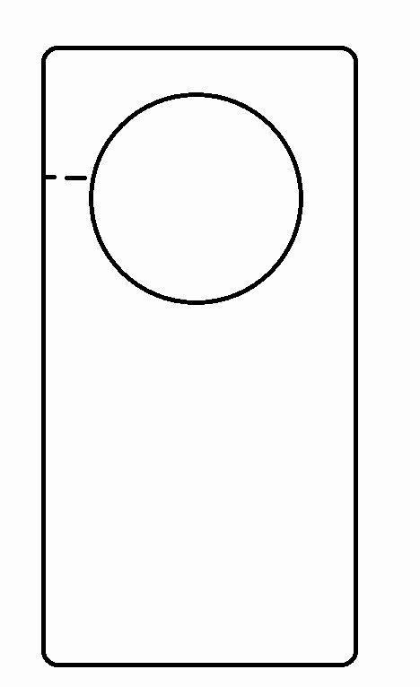 Blank Door Hanger Template Best Of Door Templates & Door Hanger Design Template Door Flyer