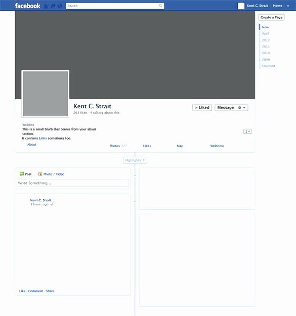 Blank Facebook Page Template Elegant Inspirational Page Blank Template Message