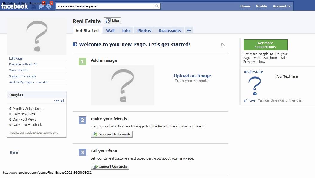Blank Facebook Page Template Elegant Setup for Realtors Pixilink solutions