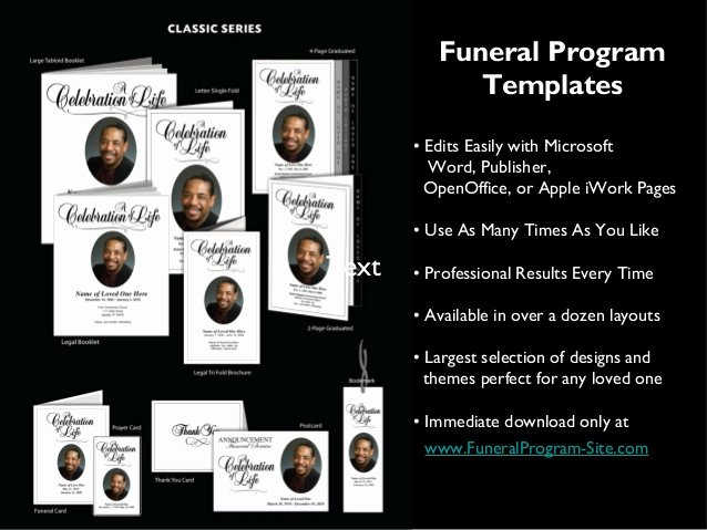 Blank Funeral Program Template Awesome Printable Funeral Programs Templates