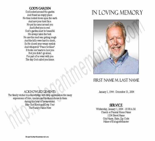 Blank Funeral Program Template Beautiful Blank Funeral Program Template Lavanc