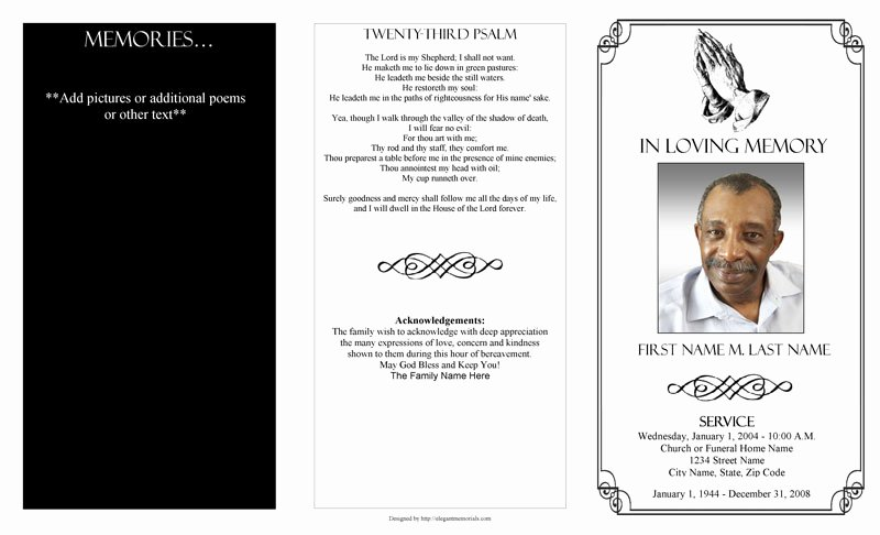 Blank Funeral Program Template Best Of Funeral Program Templates