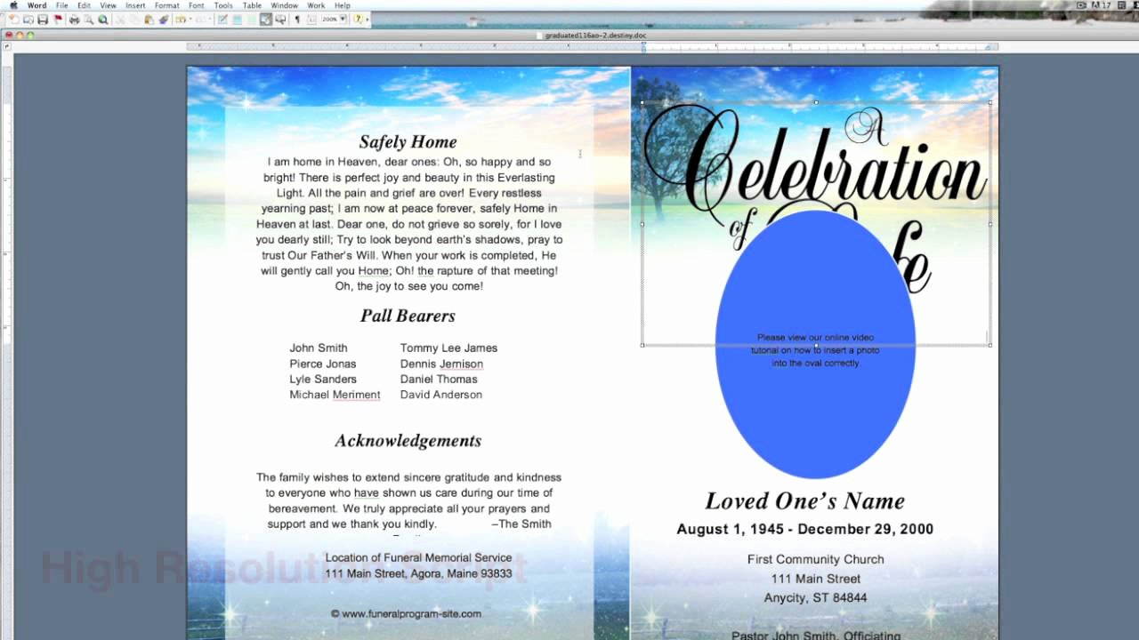 Blank Funeral Program Template Elegant 10 Best Of Blank Funeral Program Template Free