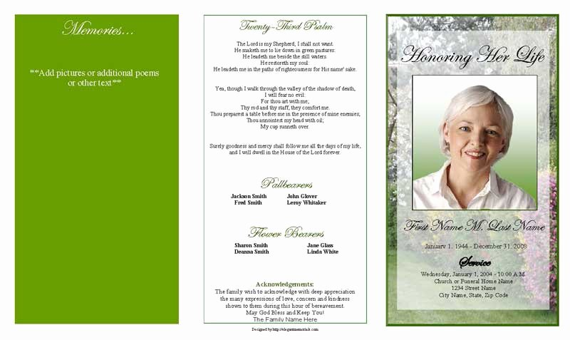 Blank Funeral Program Template Luxury Funeral Program Template