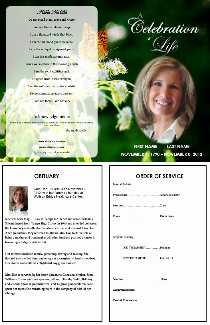 Blank Funeral Program Template Luxury the Funeral Memorial Program Blog Free Funeral Program