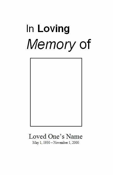 Blank Funeral Program Template New Free Funeral Program Template Check Out Our Sample