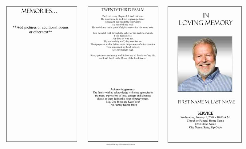Blank Funeral Program Template Unique Funeral Program Templates