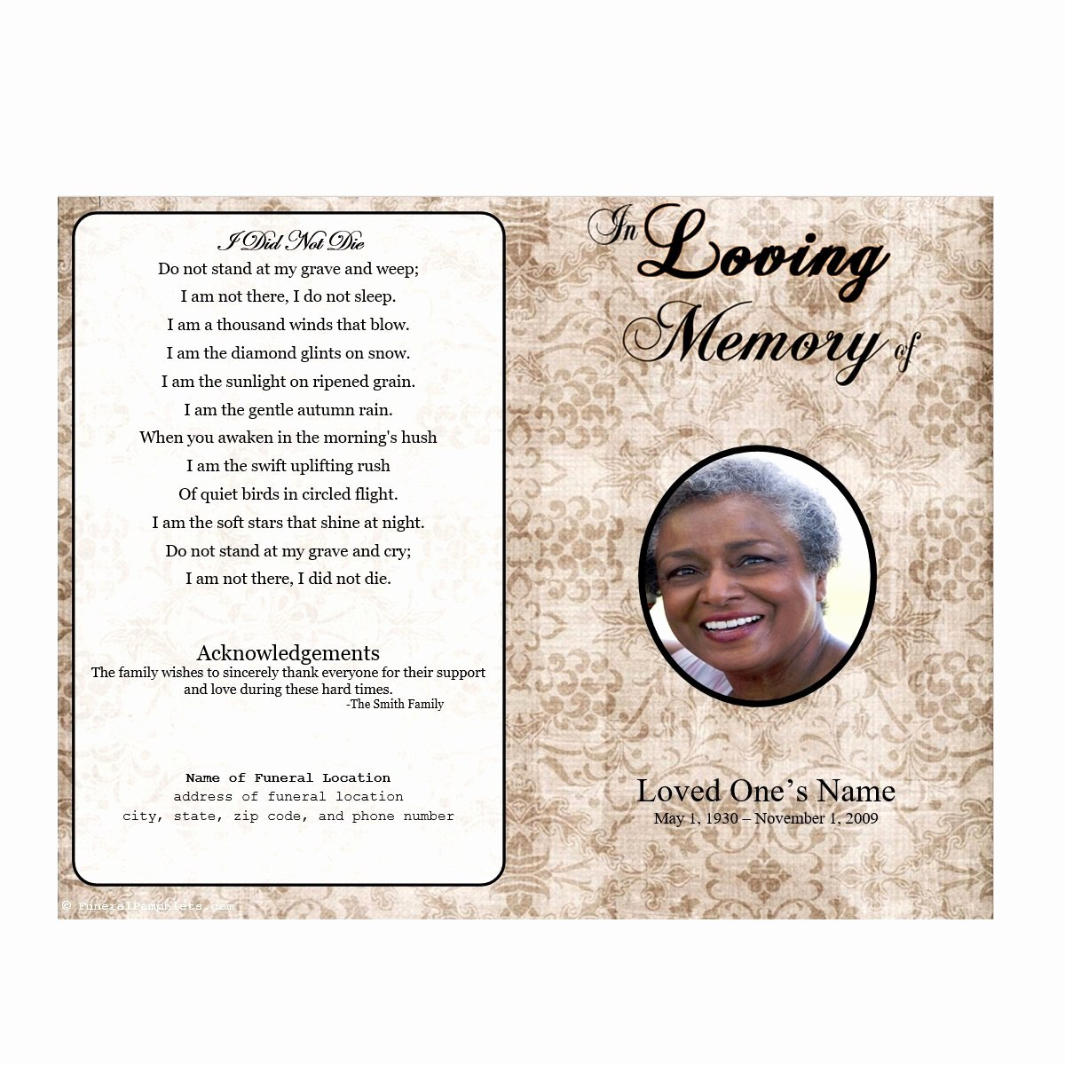 Blank Funeral Program Template Unique Incredible Gallery Blank Funeral Program Template