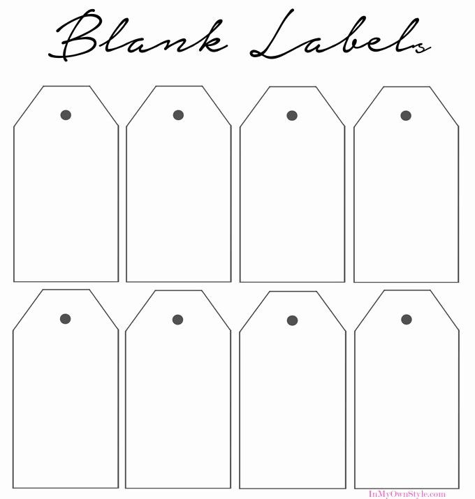 Blank Gift Tag Template Beautiful How to organize In Style Using Dollar Store Baskets