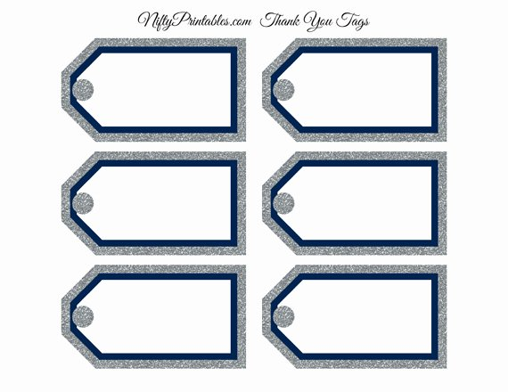 Blank Gift Tag Template Lovely Blank Favor Tags Navy Silver Glitter Nifty Printables