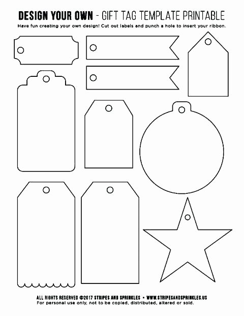 Blank Gift Tag Template Unique Free Printable Gift Tags Templates Merry and Label