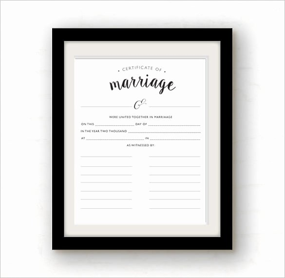 Blank Marriage Certificate Template Awesome Certificate Template 50 Printable Word Excel Pdf Psd