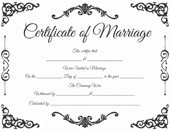 Blank Marriage Certificate Template Best Of Traditional Corner Marriage Certificate Template Dotxes